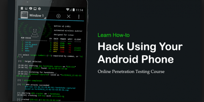 Penetration Testing Mobile Devices Using Android