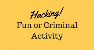 Hacking: Fun or Criminal Activity?