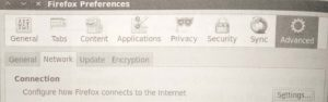 Configuring Firefox to use a proxy for Internet communications.