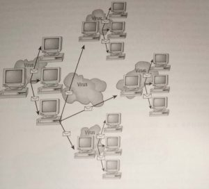 An email virus spreading geometrically to other users