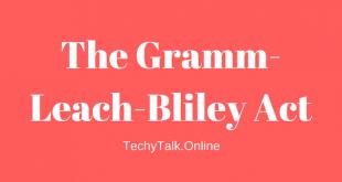 The Gramm-Leach-Bliley Act