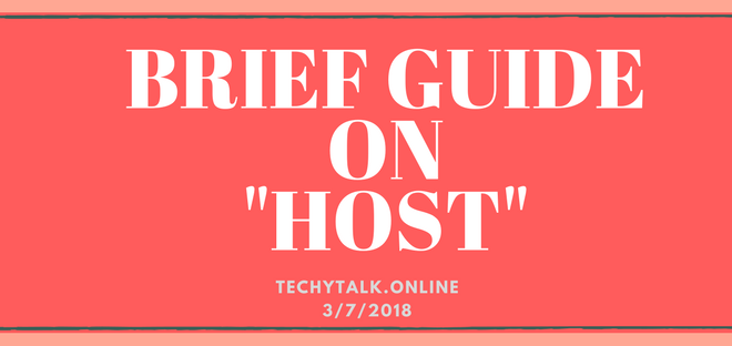 Brief Guide on HOST