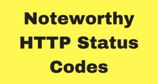 Noteworthy HTTP Status Codes