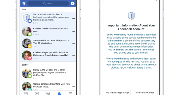 Facebook Bug Temporarily Unblocked People From 800,000+ Block Lists