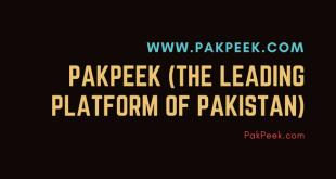 PakPeek (The Leading Platform of Pakistan)