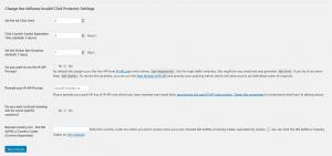 Change the Adsense Invalid Click Protector Settings