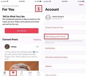 Create Apple Music Profile Step 1