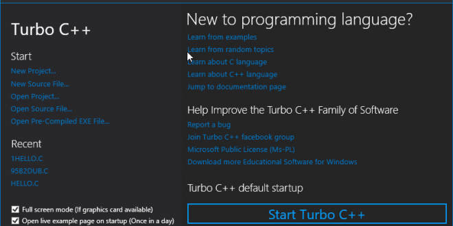 How to install Turbo C++: Compile and Run a C++ Program