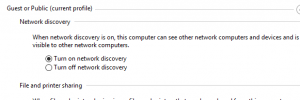 Windows10 Network Discovery Option