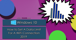 Windows 10 - How to Set A Data Limit For A WiFi Connection