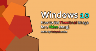 Windows 10 - How To Set Thumbnail Image For A Video (2019)