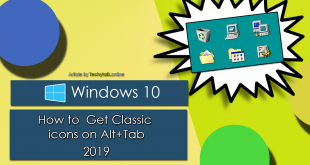 Windows 10 - How to Get Classic icons on Alt+Tab 2019