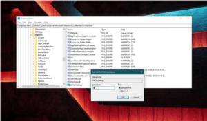 Registry Editor in widnows 10