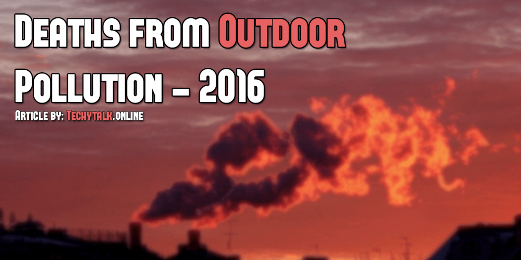 deaths from outdoor pollution - 2016
