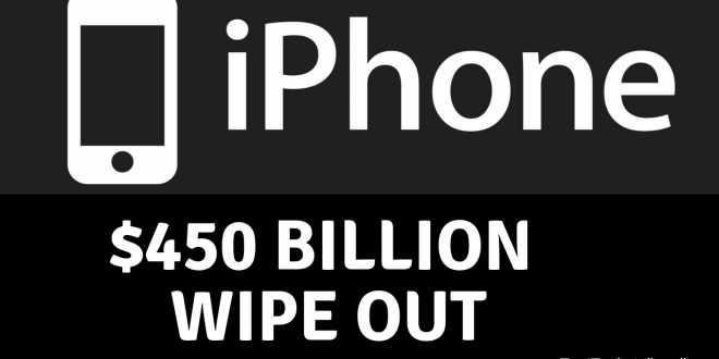 apple $450 billion wipeout