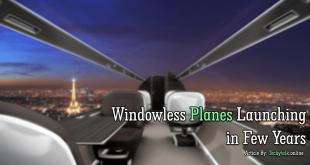 windowless airplane launching in few years