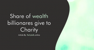 Share of wealth billionaires give to charity