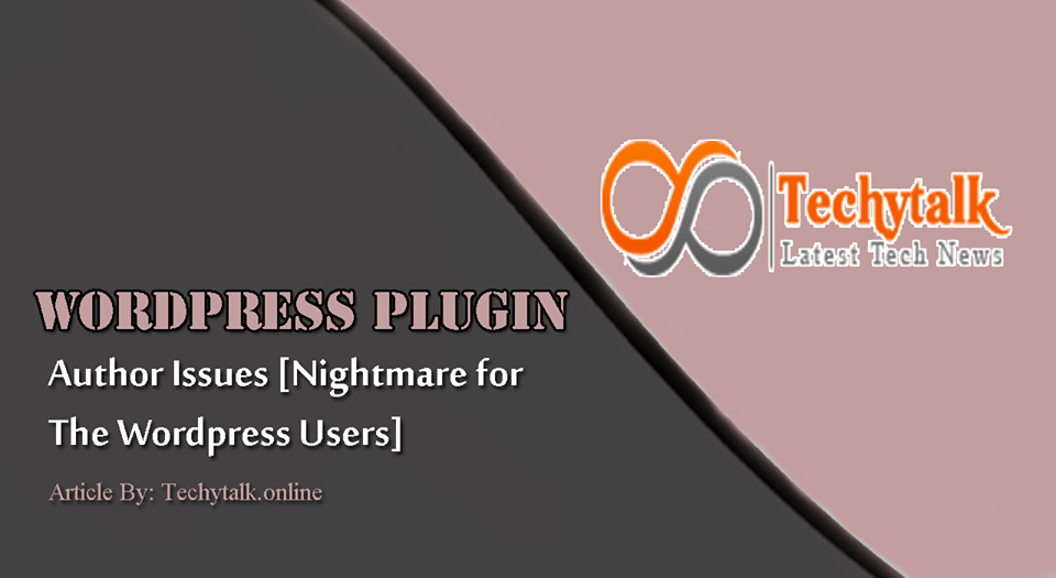Wordpress plugin author issues