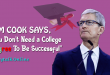 """TIM COOK SAYS, """"You Don't Need a College Degree To Be Successful"""""""