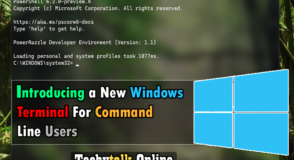 Introducing a New Windows Terminal For Command Line Users