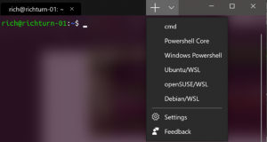 Multiple Tabs in Latest Windows Terminal