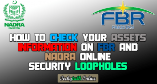 How to Check Your Assets Information on FBR and NADRA Online [Security Loopholes]