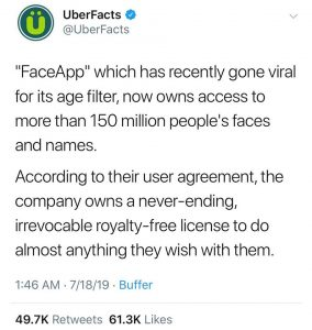 Uber Facts About FaceApp Security Threats