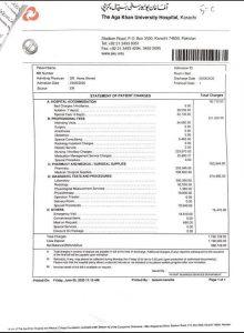 Agha Khan Hospital Scam Bills