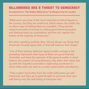 Billionaires Are Threat to Democracy