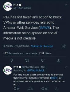 PTA Tweet
