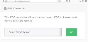 PDF to JPG Converter Select Target