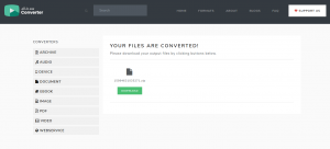 Your Files Are Converted